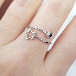 {A Passing Wish Ring} Shooting Star .925